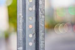 Металл делает город стоковые фотографии rf