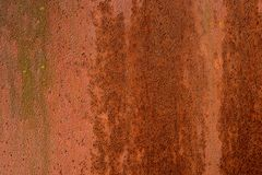 Металл заржавел текстура предпосылки Стоковые Фотографии RF