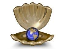 металл золота глобуса шара Стоковые Фото