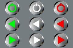 металл кнопок Стоковые Фотографии RF
