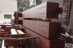 металл лучей коричневый промышленный Стоковые Фотографии RF