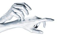 металл людей красивейших рук перстов длинний Стоковые Изображения
