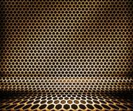 металл наговора решетки золота предпосылки Стоковые Фотографии RF