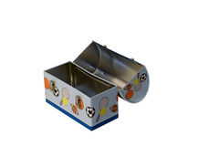 металл обеда коробки Стоковое фото RF