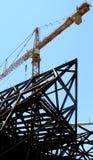 металл обрамленный зданием Стоковые Фотографии RF