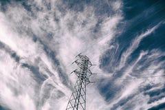 Металл опоры электричества стоковые фотографии rf