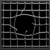 металл отверстия клетки иллюстрация штока