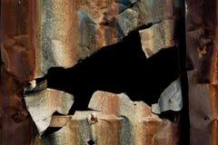 металл отверстия ржавый Стоковые Изображения RF