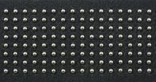 металл поставленный точки полосой кожаный Стоковое Фото