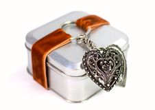 металл подарка коробки Стоковое Фото