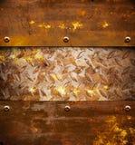 металл предпосылки ржавый Стоковые Фотографии RF