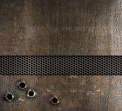 металл пулевых отверстий предпосылки Стоковое Изображение RF