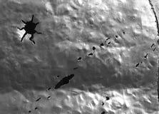 металл пулевых отверстий Стоковая Фотография