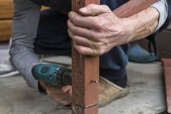 Металл сверла работника сверля Стоковые Фото