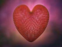 Металл связал проволокой красное сердце иллюстрация штока