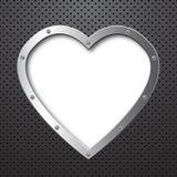 металл сердца предпосылки Стоковое фото RF