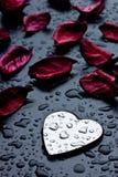 металл сердца стоковая фотография rf