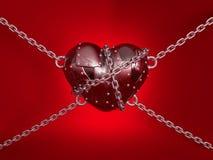металл сердца Стоковое Изображение