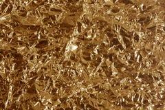 металл скомканный бронзой Стоковые Изображения RF