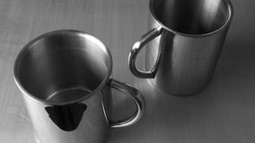 металл чашек Стоковое Изображение RF
