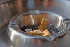 металл ashtray Стоковое Изображение