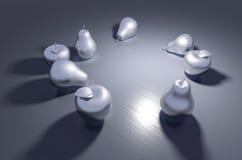 Металл fruits натюрморт Стоковая Фотография