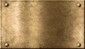 металл grunge предпосылки латунный бронзовый Стоковое Изображение