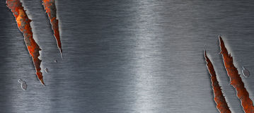 металл grunge предпосылки над ржавой сорванной текстурой Стоковое Изображение RF