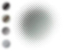 металл halftone нерезкости серый Стоковая Фотография