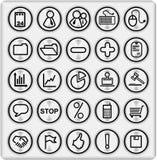 металл part1 set4 кнопок Стоковые Изображения RF
