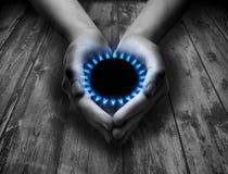 Метан в ваших руках Стоковое Фото