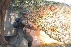 метатель воина пламени немецкий Стоковые Изображения RF