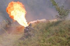 метатель воина пламени немецкий Стоковое Изображение