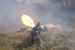 метатель воина пламени немецкий Стоковые Фото