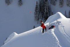 метать лыжи патруля руки обязанности Стоковое Фото