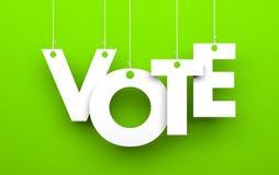 Метафора голосования иллюстрация вектора