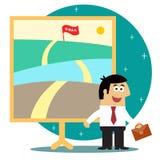 Метафора длинного путешествия для того чтобы достигнуть цели бесплатная иллюстрация
