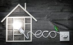Метафора символа знака конспекта конструкции Eco деревянная домашняя Стоковая Фотография RF