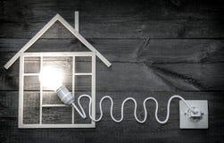 Метафора символа знака конспекта конструкции Eco деревянная домашняя Стоковая Фотография
