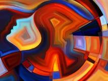 Метафоричная внутренняя геометрия Стоковое Фото