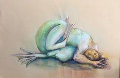 Метафоричная метаморфоза человека-амфибия бесплатная иллюстрация