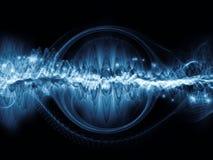Метафоричная световая волна иллюстрация вектора