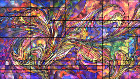 Метафоричное цветное стекло Стоковая Фотография