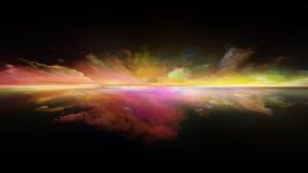 Метафоричный заход солнца иллюстрация вектора