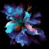 Метафоричный красочный взрыв выплеска краски стоковая фотография rf
