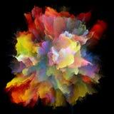 Метафоричный красочный взрыв выплеска краски стоковые фотографии rf