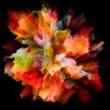 Метафоричный красочный взрыв выплеска краски стоковые изображения