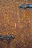 металл двери ржавый Стоковая Фотография RF