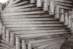 Металл гальванизированный лесами сложил славно в пакете Конец-вверх Абстрактная предпосылка металла Абстрактная предпосылка метал Стоковое Изображение