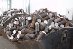 металл заготовки круглый Стоковое Фото